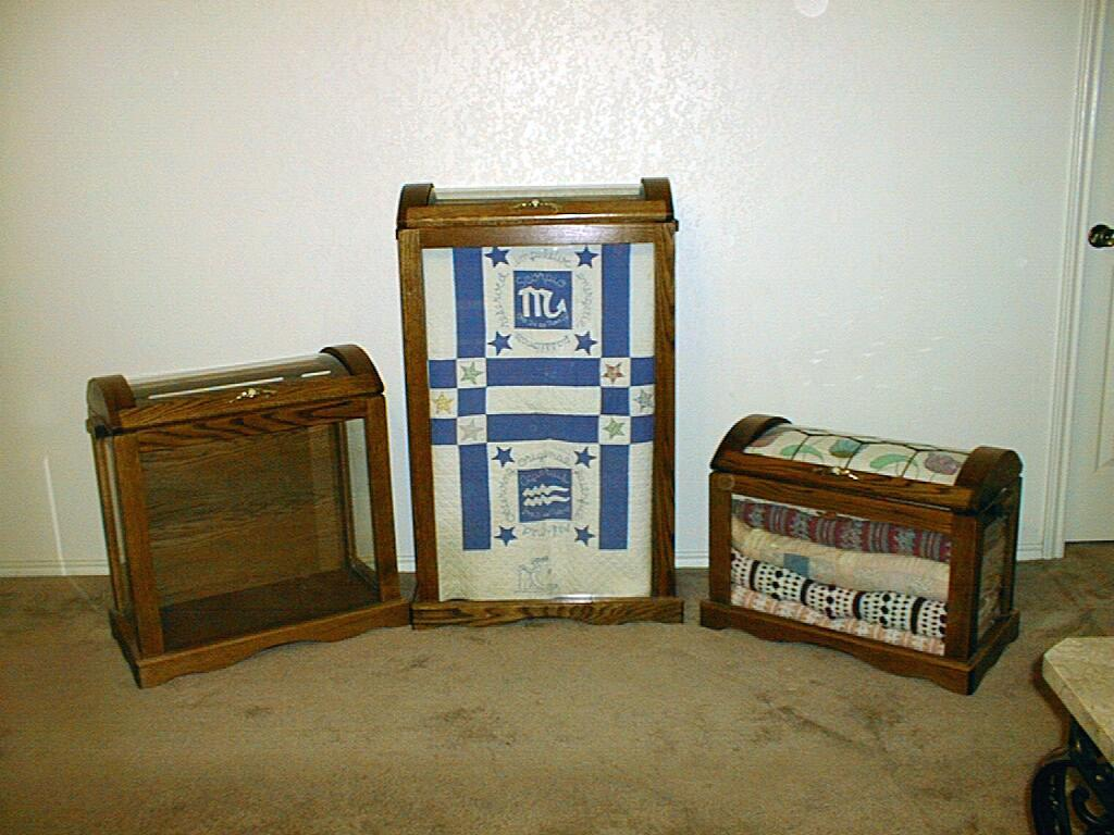 These are the three sizes in quilt chests that we carry.